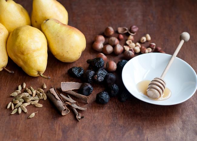 dried fig pear tart ingredients