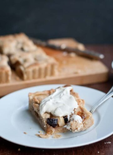 Dried Fig + Pear Tart -Hello Veggie