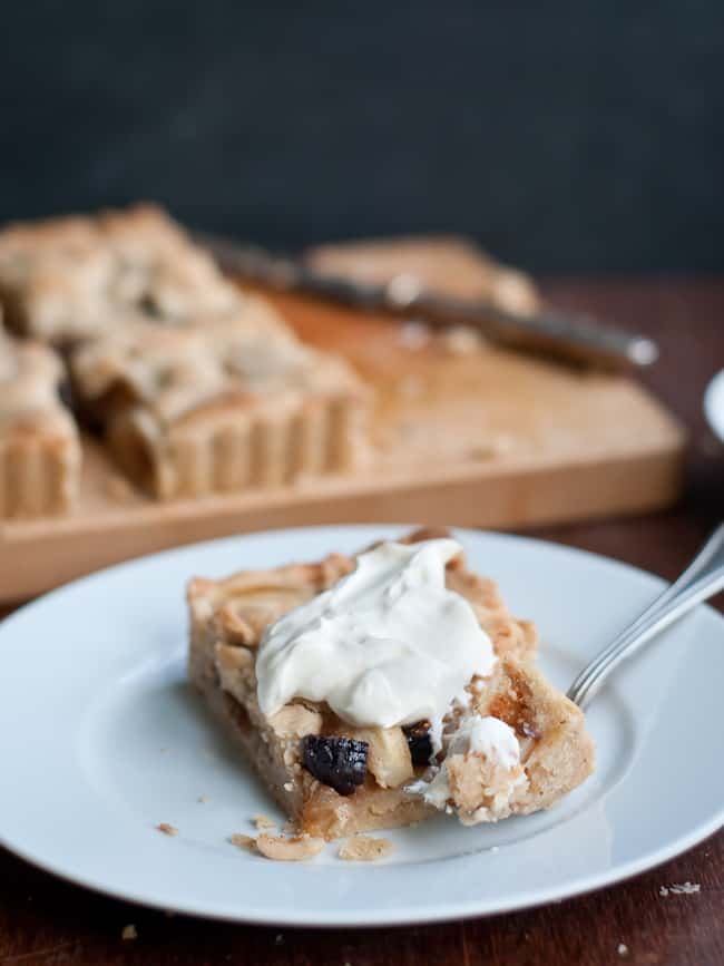 Dried Fig and Peart Tart with Honey Creme Fraiche | Hello Glow