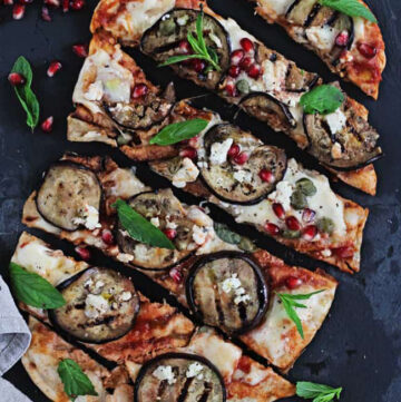 Grilled Pizza Recipe with Eggplant - HelloVeggie.co