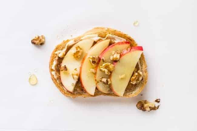 5 Tasty Healthy Toast Recipes to Try - Apple Honey Walnut
