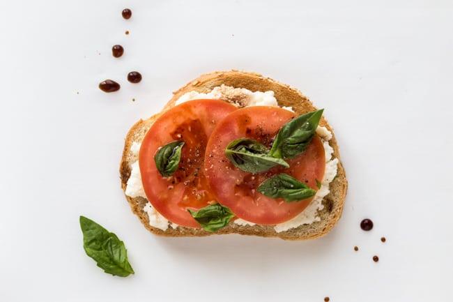 5 Tasty Healthy Toast Recipes to Try - Ricotta Tomato Basil