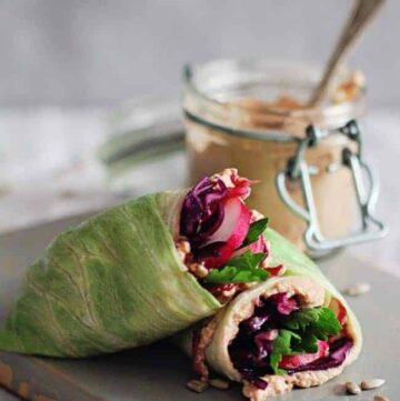 Healthy Lunch Wrap with Sunflower Seed Spread - Hello Veggie