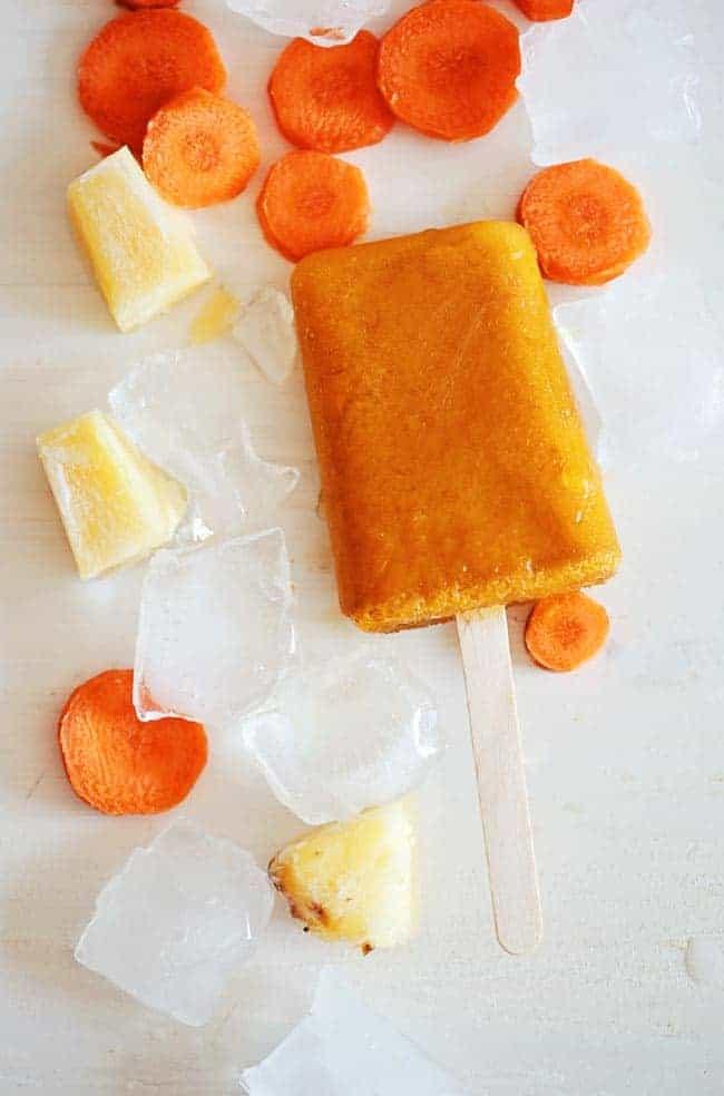 Pineapple Carrot Popsicles | 3 Veggie Popsicle Recipes