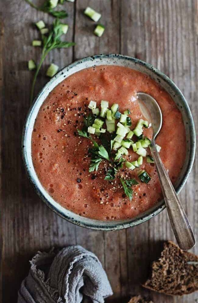 Easy Tomato Gazpacho Recipe - Hello Veggie