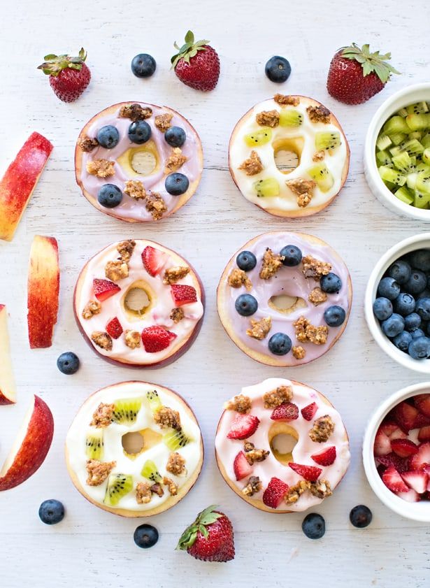 Apple Fruit Yogurt Donuts from Hello, Wonderful - 15 Cute and Clever DIY Lunch Box Tricks