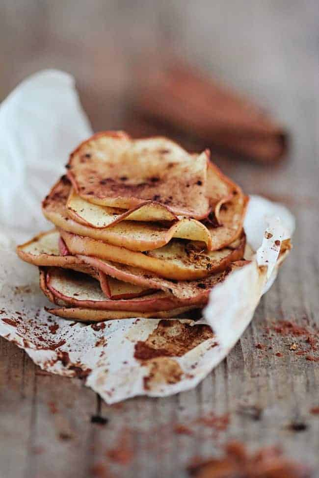 Baked Apple Chips from Hello Glow