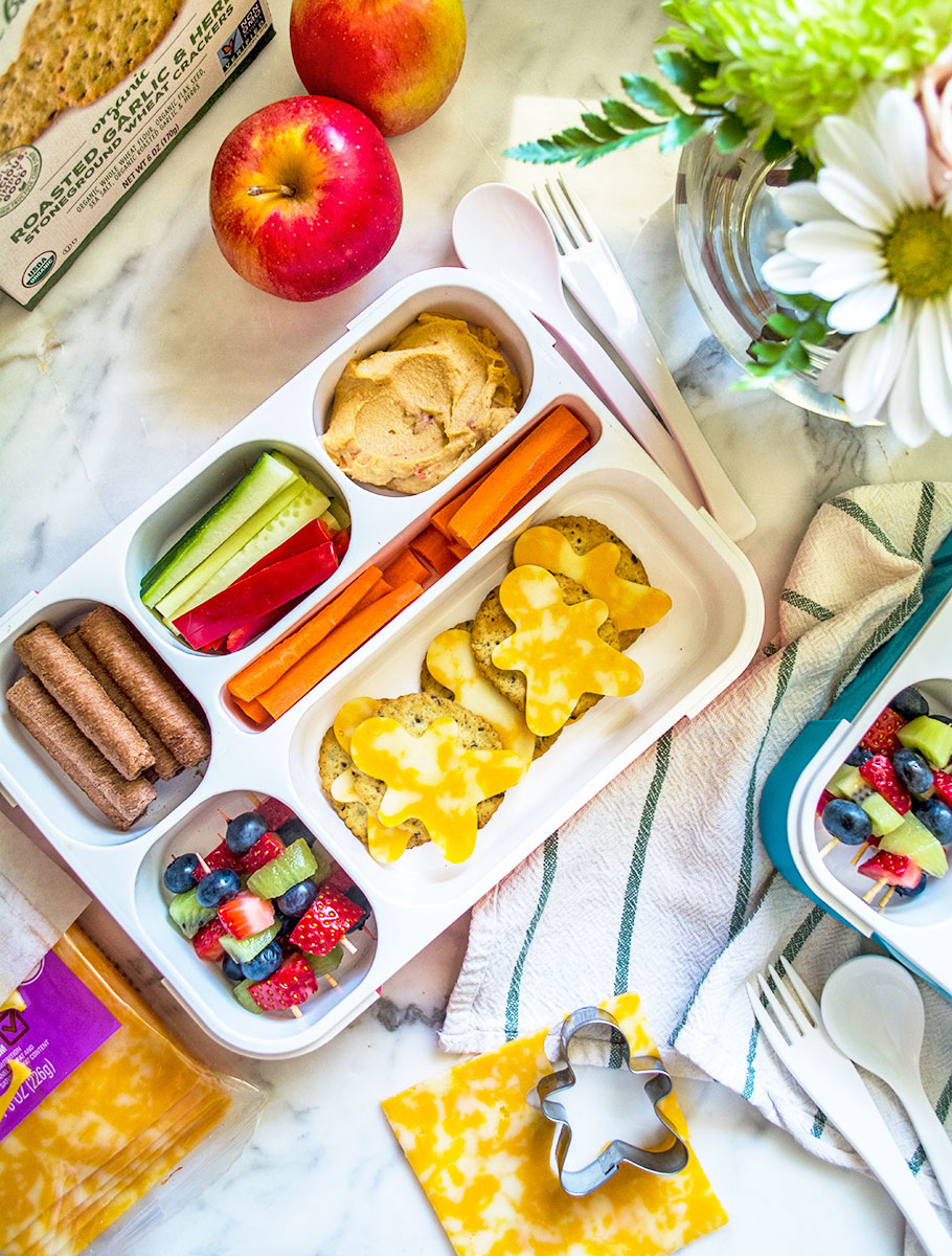 Cheese 'Men' from Lemon & Basil - 15 Cute and Clever DIY Lunch Box Tricks