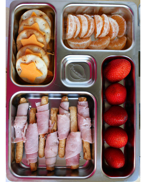Cheese and Crackers Bento from Martha Stewart - 15 Cute and Clever DIY Lunch Box Tricks