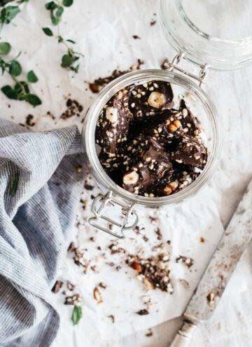 Buckwheat Dark Chocolate Bark - Hello Veggie