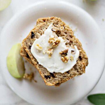 Vegan Spiced Apple Bread - HelloVeggie.co