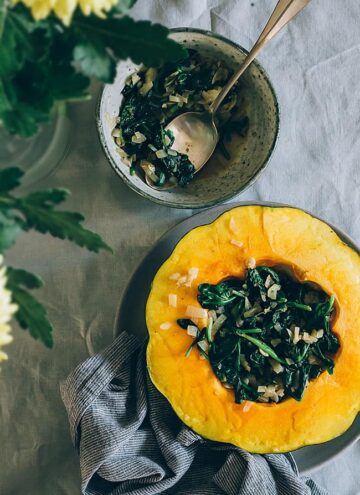 Warm Your Soul with Spinach-Stuffed Acorn Squash