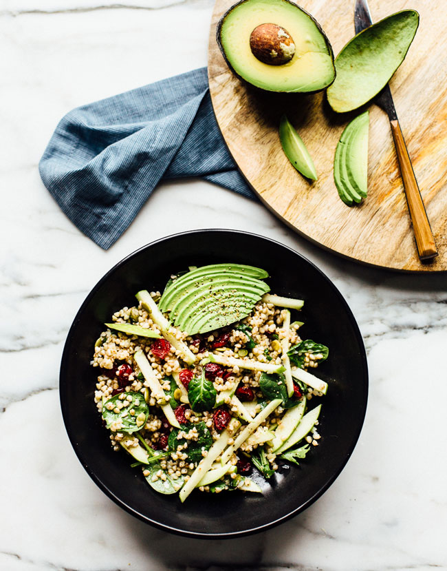 Buckwheat, Green Apple, Cranberry + Avocado Salad