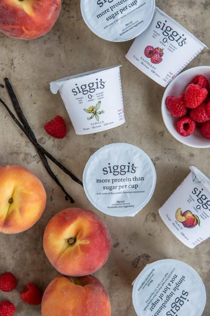 Peach Melba Yogurt Bark recipe | HelloGlow.co
