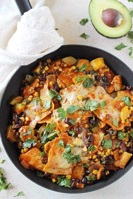Summer Vegetable Skillet Enchiladas from Cook Nourish Bliss - 7 Food Blogger Recipes That Are Staples in My Home