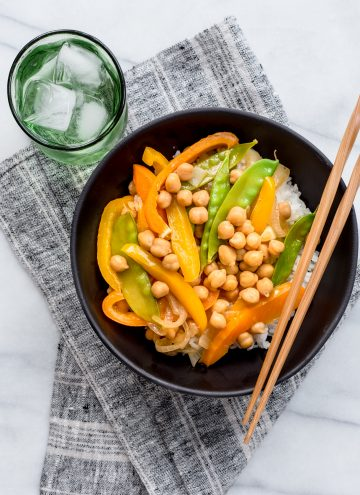 Quick Chickpea Stir Fry from Hello Veggie
