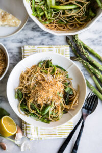 Lemony Shaved Asparagus Linguine + How to Get More Protein Into Your Pasta Dinners