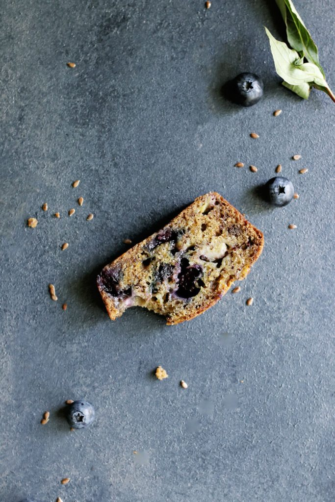 Coconut Milk Blueberry Banana Bread