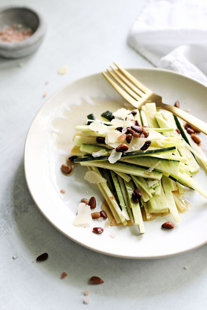 Warm Zucchini Salad with Brown Butter and Pine Nuts - Keto Brown Butter Zucchini