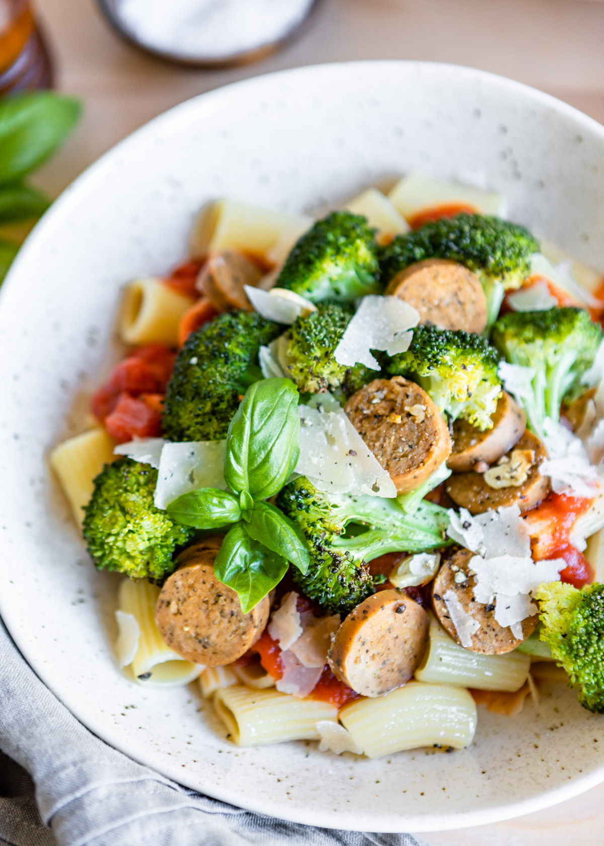 Sheet Pan Garlic Broccoli and Italian Sausage with Pasta