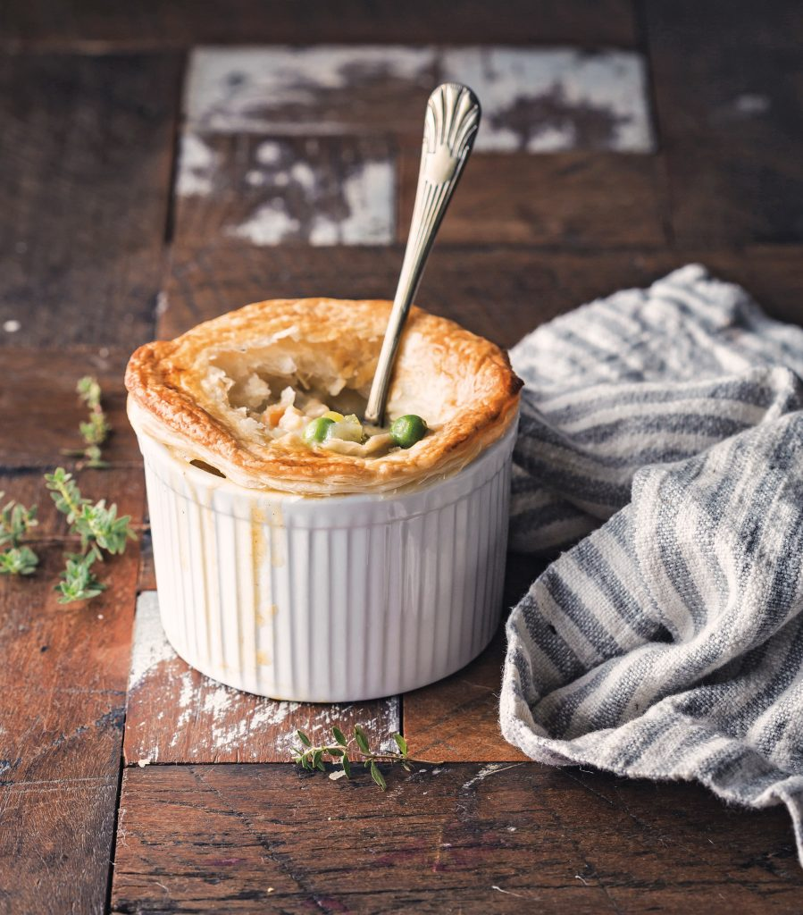Vegan Chicken Pot Pie with Flaky Puff Pastry Crust