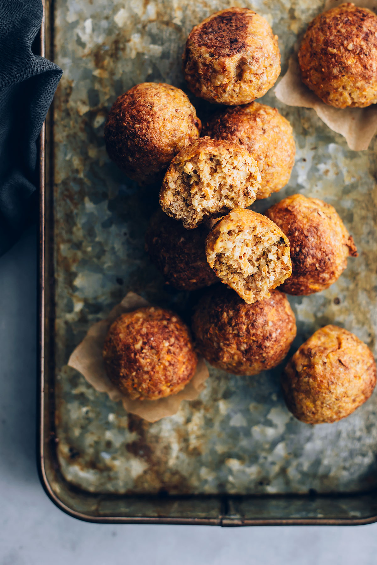 Kid-Approved + Freezer-Friendly Carrot Walnut Meatballs