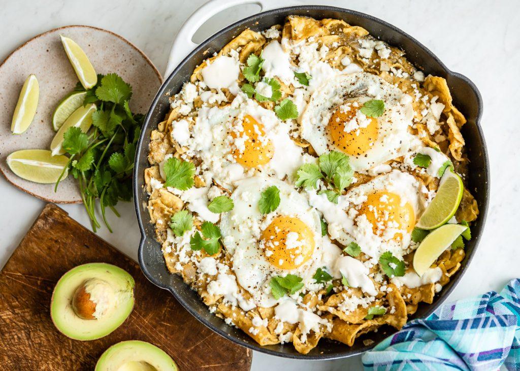 Vegetarian Chilaquiles Verdes | HelloVeggie.co