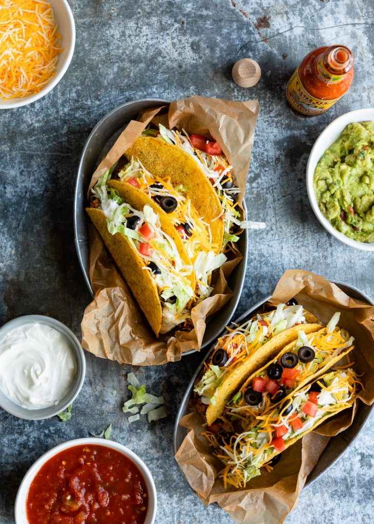 Old School Vegetarian Tacos | HelloVeggie.co