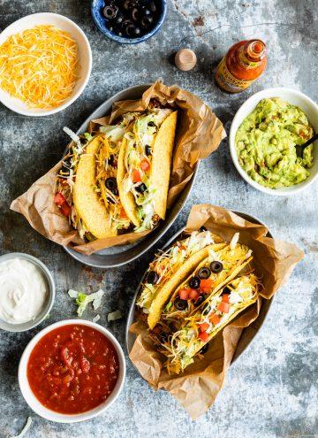 Old School Tacos | HelloVeggie.com