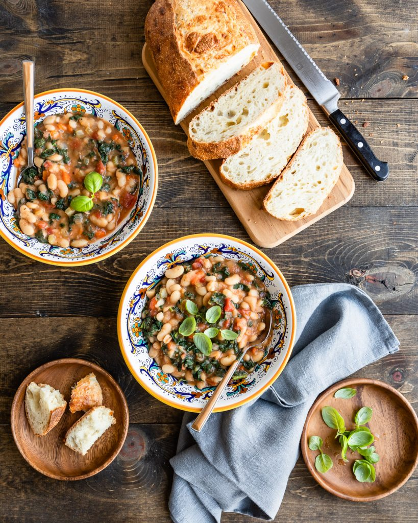 Slow Cooker Tuscan Bean Soup | HelloVeggie.co