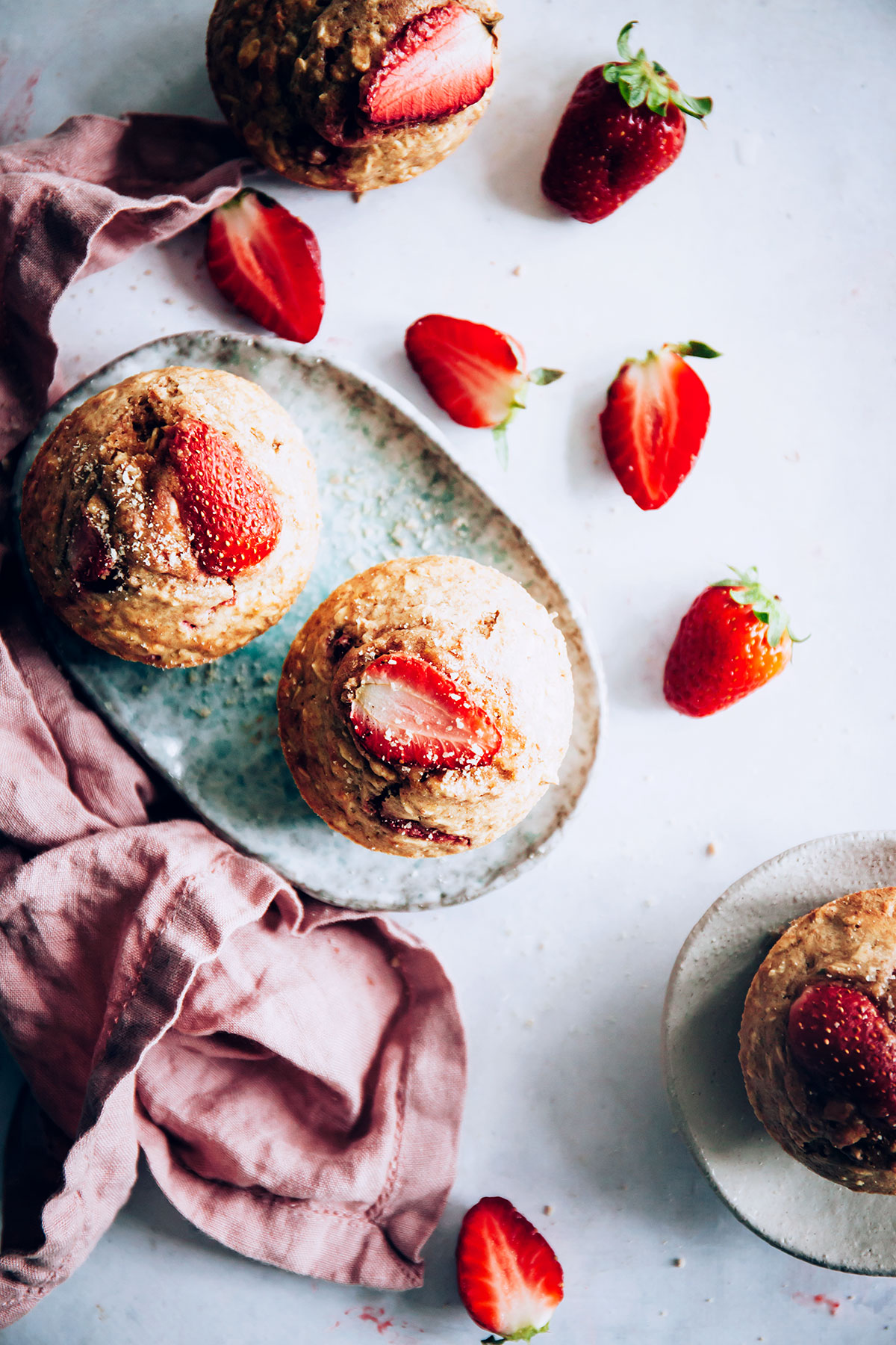 Freezer-Friendly Strawberry Baked Oatmeal Cups