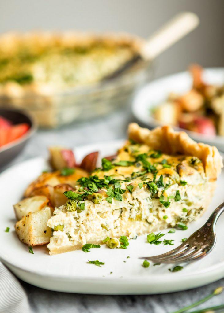 Vegan Spring Vegetable Quiche