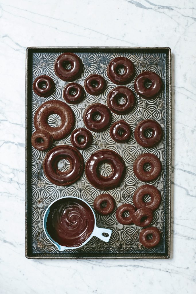 Vegan Triple Chocolate Doughnuts