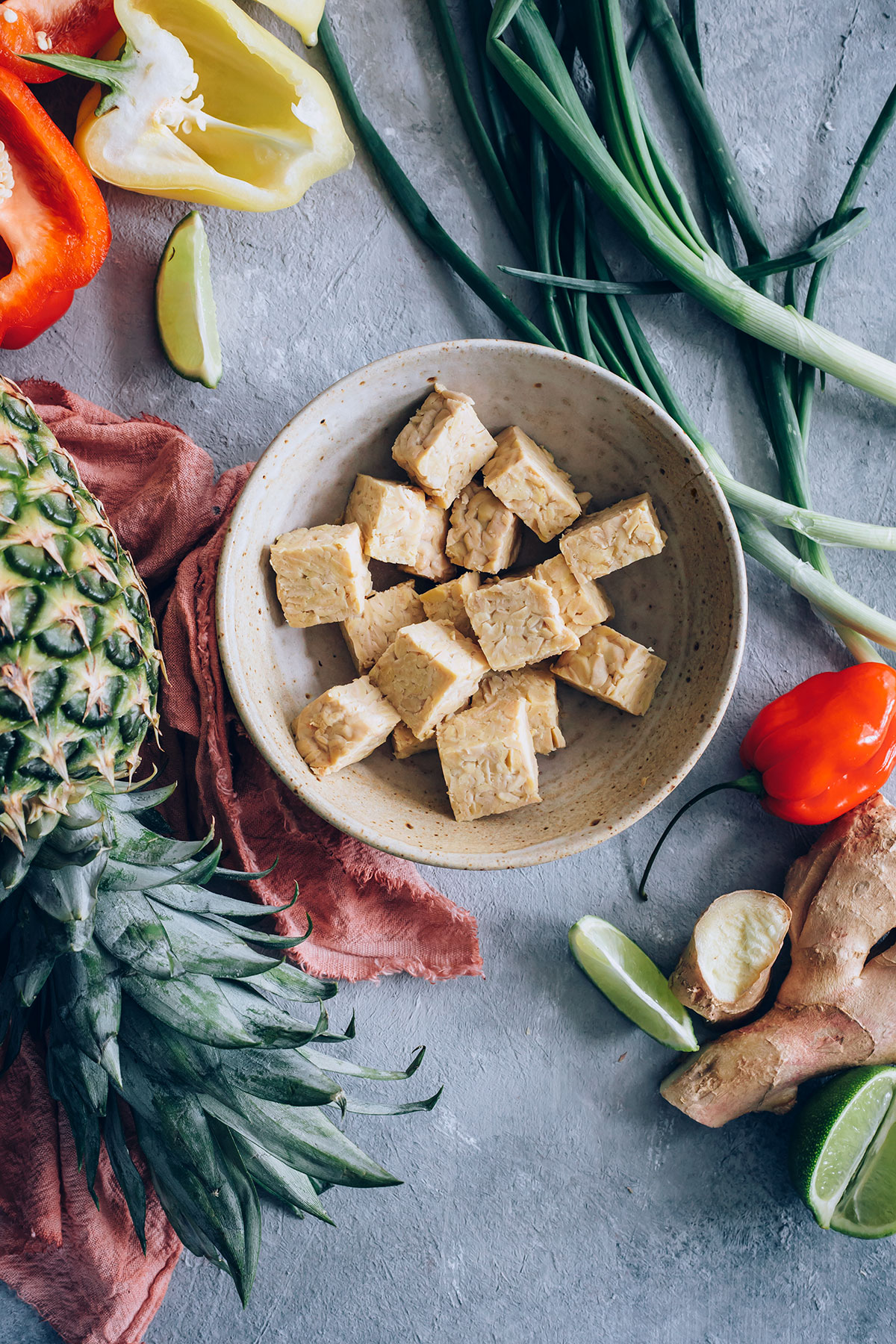 Sheet Pan Jerk Tempeh and Pineapple