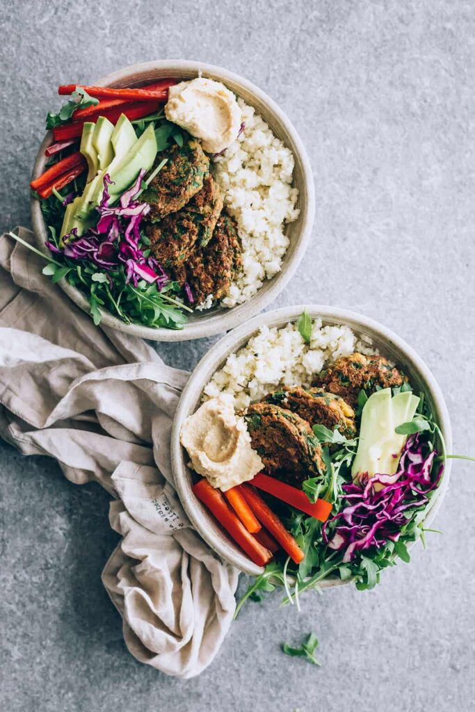 Cauliflower Falafel Power Bowls