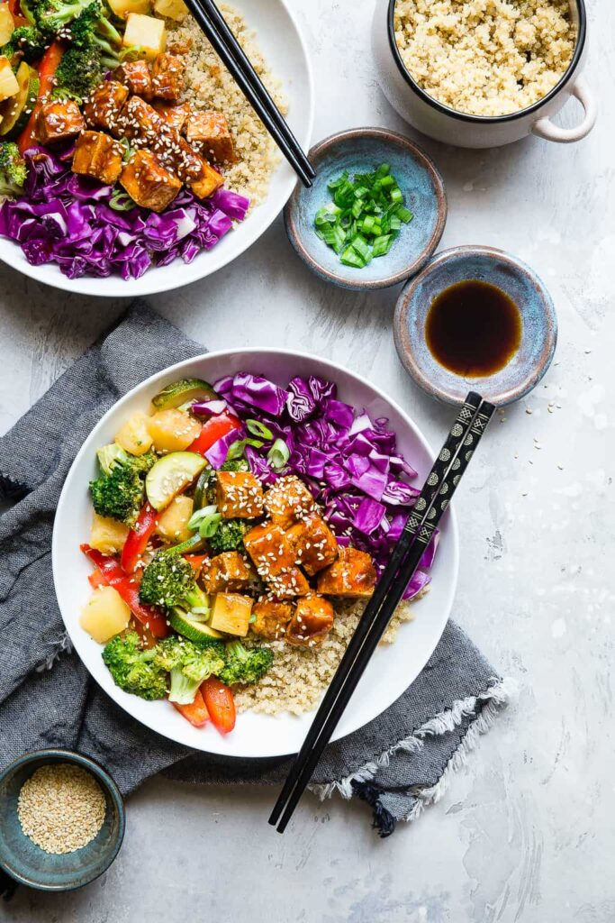 Korean Barbecue Tofu Meal Prep Bowls