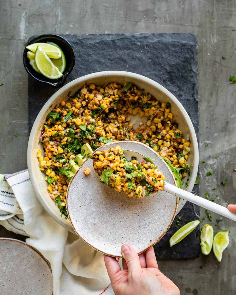Vegan Mexican Corn Salad | HelloVeggie.co
