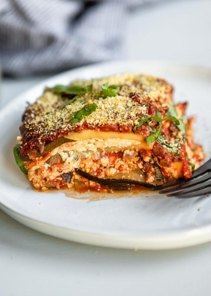 Vegan Zucchini Lasagna with Tofu Ricotta