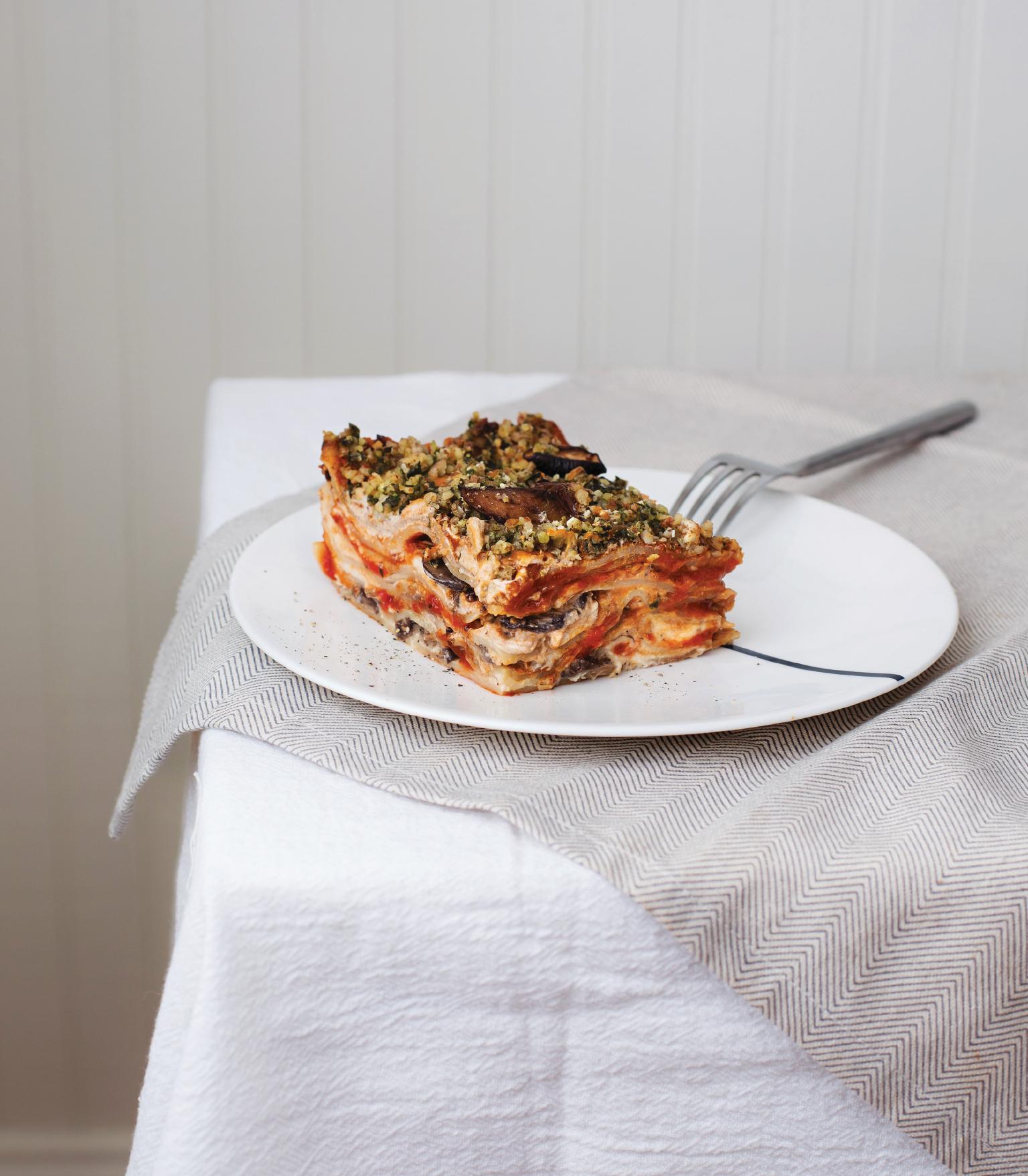 Savory Mushroom & Sage Lasagna with Cashew Cream