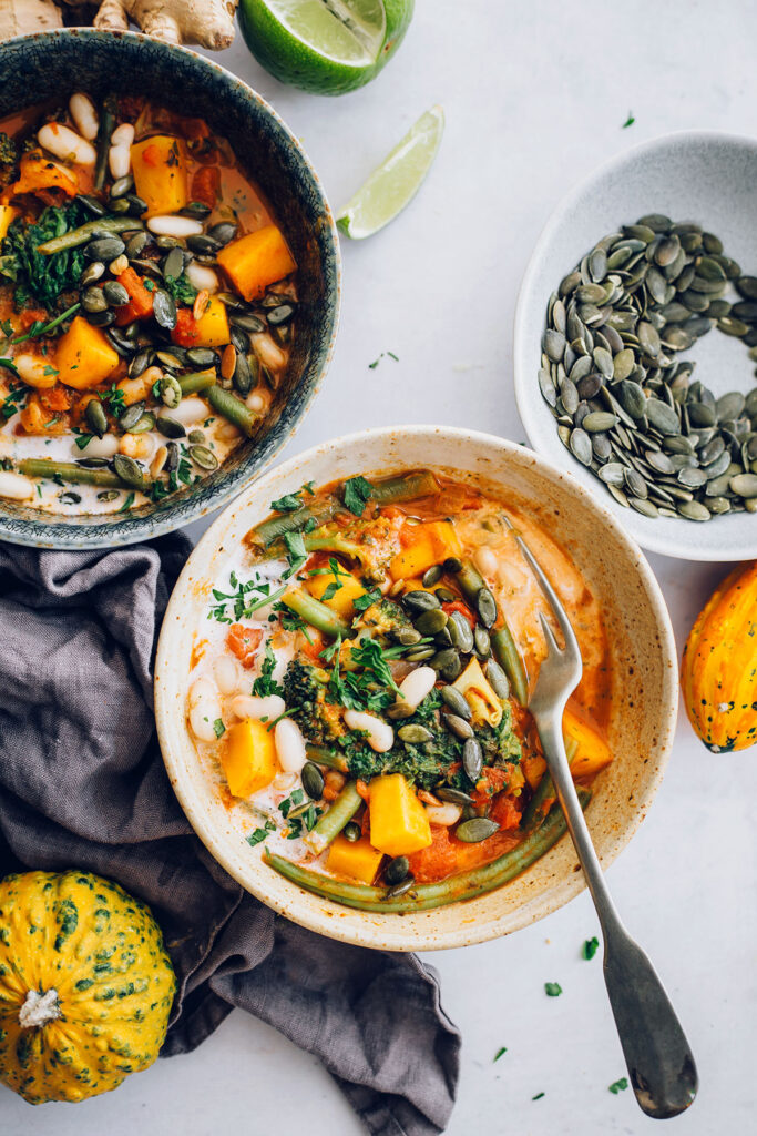 Warming Butternut Squash Curry with Coconut Milk