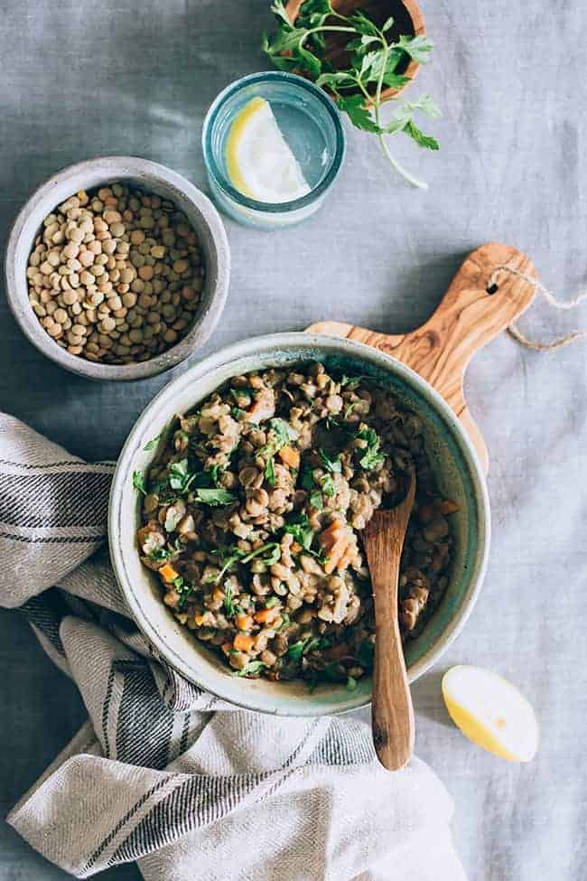 Simple Lentil Stew from Hello Glow