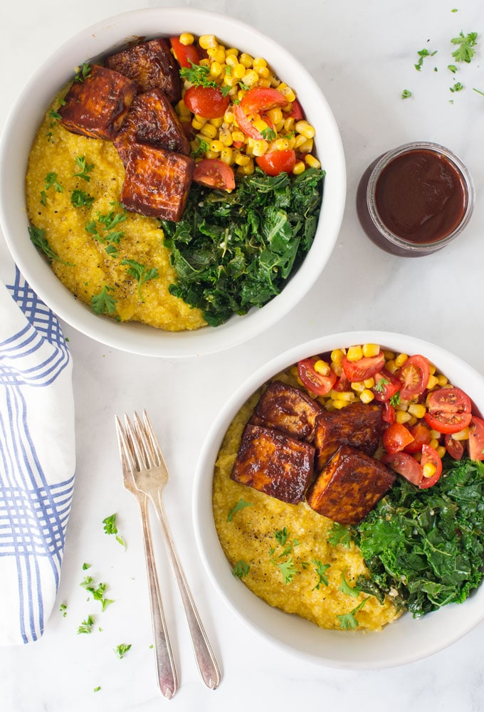 Vegan BBQ Tofu Bowls from Mindful Avocado