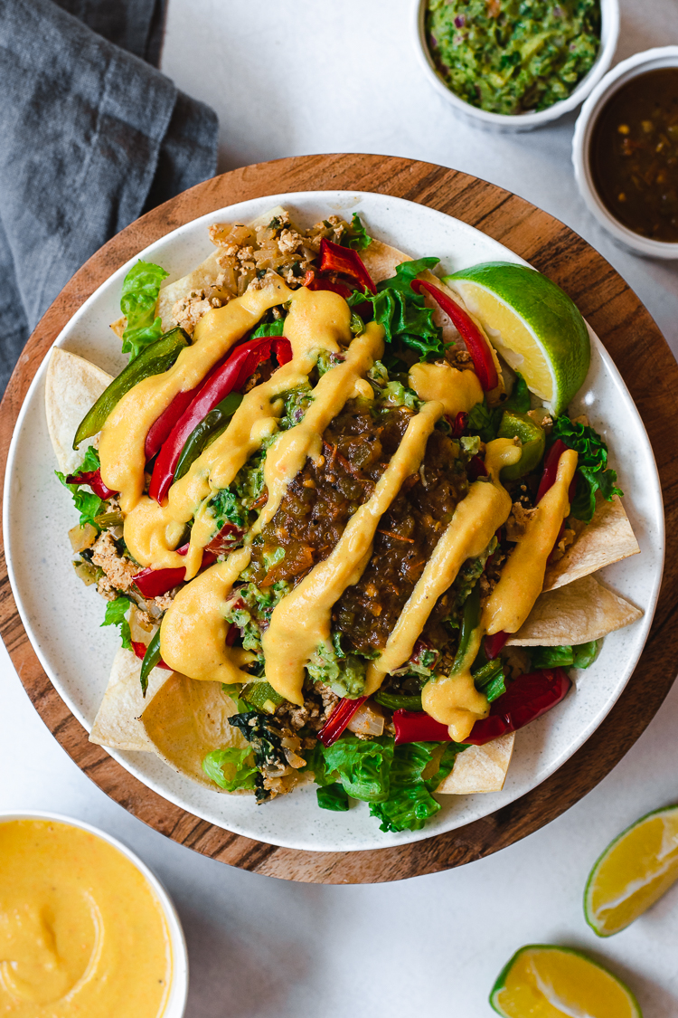 Loaded Vegan Nachos from Ellie Likes Cooking