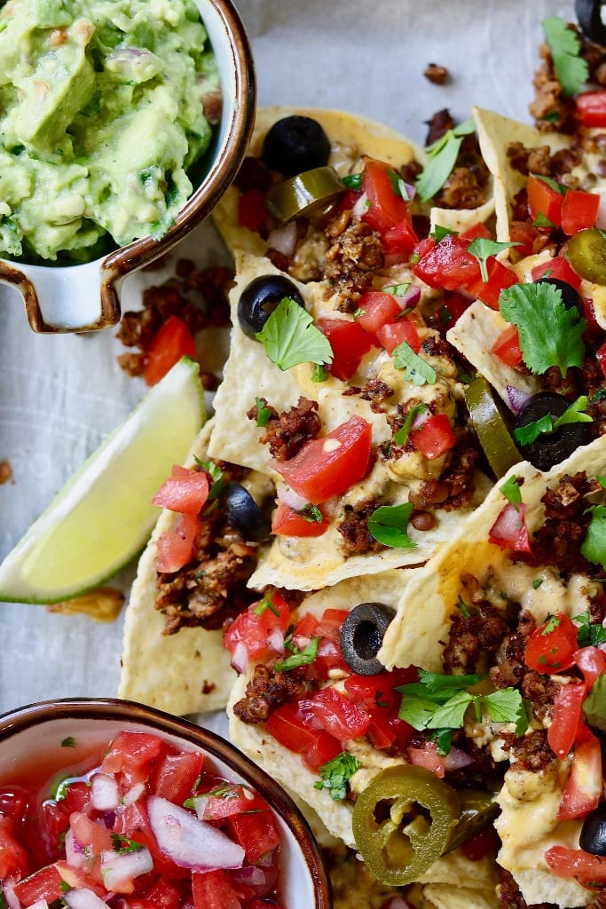 Fully Loaded Vegan Nachos from The Cheeky Chickpea