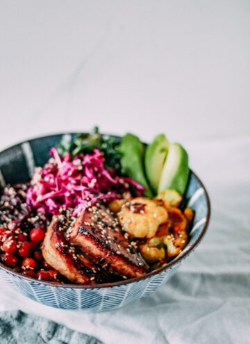 wild rice macro bowls from Sunday Measures