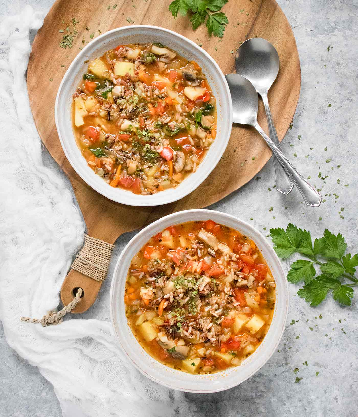 Hearty Vegetable Wild Rice Soup from Soup Addict