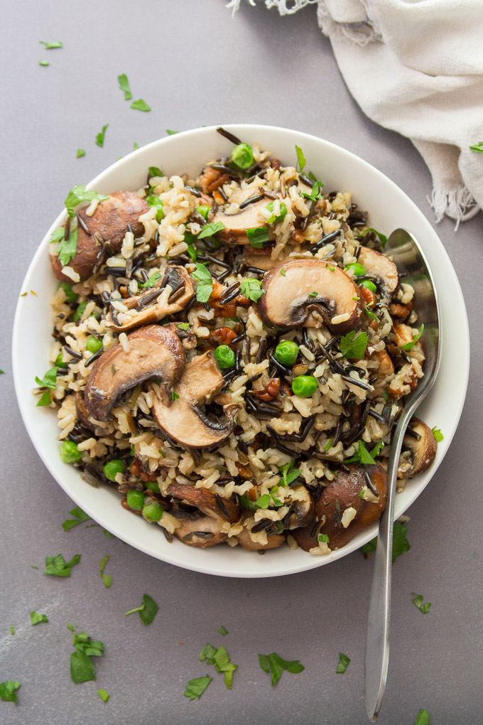 Wild Rice Pilaf with Mushrooms & Pecans from Connoisseurus Veg