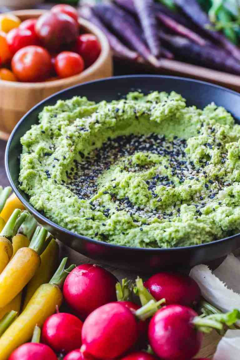 Edamame Hummus Crudite Platter - 9 Vegetarian Appetizers That Will Impress Your Guests