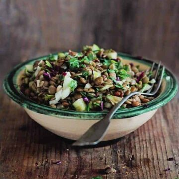Cooling lentil salad - Hello Veggie