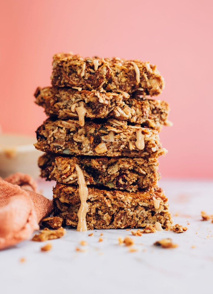 Peanut Butter Honey Granola Bars - Hello Veggie